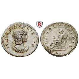 Römische Kaiserzeit, Julia Domna, Frau des Septimius Severus, Antoninian 216, vz-st/ss-vz