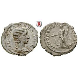 Römische Kaiserzeit, Julia Mamaea, Mutter des Severus Alexander, Denar, vz