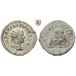 Römische Kaiserzeit, Philippus II., Antoninian 249, vz-st