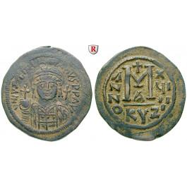 Byzanz, Justinian I., Follis 545-546, Jahr 19, ss+