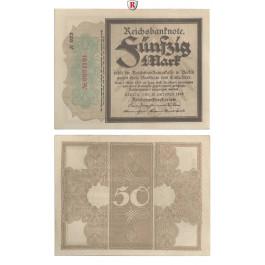 1. Weltkrieg 1914-1918, 50 Mark 20.10.1918, II, Rb. 56d