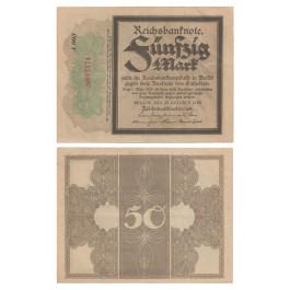 1. Weltkrieg 1914-1918, 50 Mark 20.10.1918, II-, Rb. 56c
