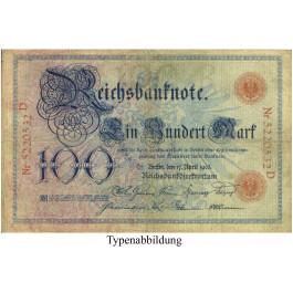 Reichsbanknoten und Reichskassenscheine, 100 Mark 17.04.1903, III, Rb. 20