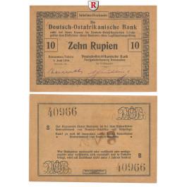 Deutsch-Ostafrika, 10 Rupien 01.06.1916, I, Rb. 935a