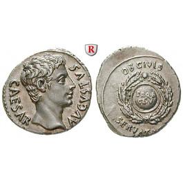 Römische Kaiserzeit, Augustus, Denar um 19 v.Chr., f.st