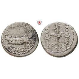 Römische Republik, Marcus Antonius, Denar 32-31 v.Chr., ss+