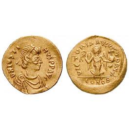 Byzanz, Justinian I., Tremissis 527-565, ss+