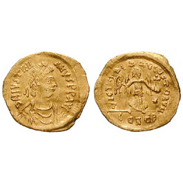 Byzanz, Justinian I., Tremissis 527-565, ss