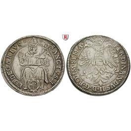 Frankreich, Elsass, Leopold Wilhelm von Österreich, Reichstaler o.J. (1626), ss+