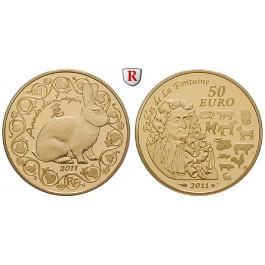 Frankreich, V. Republik, 50 Euro 2011, 7,78 g fein, PP