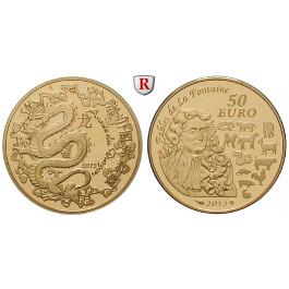 Frankreich, V. Republik, 50 Euro 2012, 7,78 g fein, PP