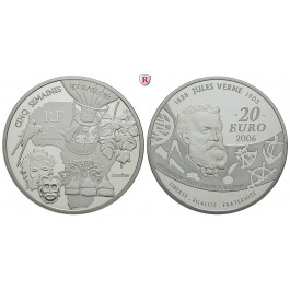 Frankreich, V. Republik, 20 Euro 2006, 155,61 g fein, PP