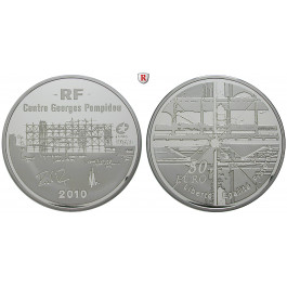 Frankreich, V. Republik, 50 Euro 2010, 155,61 g fein, PP