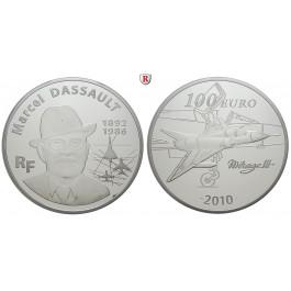 Frankreich, V. Republik, 100 Euro 2010, 311,22 g fein, PP
