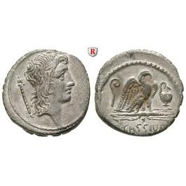 Römische Republik, Q. Cassius Longinus, Denar 55 v.Chr., vz