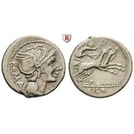 Römische Republik, L. Flaminius Chilo, Denar 109-108 v. Chr., ss
