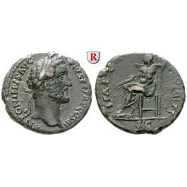 Römische Kaiserzeit, Antoninus Pius, As 143-144, ss-vz