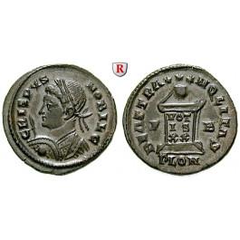 Römische Kaiserzeit, Crispus, Caesar, Follis 321, vz+
