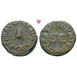 Römische Kaiserzeit, Claudius I., Quadrans Jan.-Dez. 42, ss