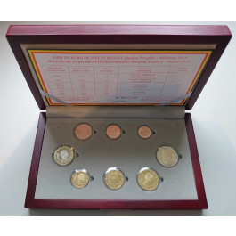 Belgien, Königreich, Albert II., Euro-Kursmünzensatz 2015, PP