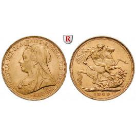 Australien, Victoria, Sovereign 1900, 7,32 g fein, vz