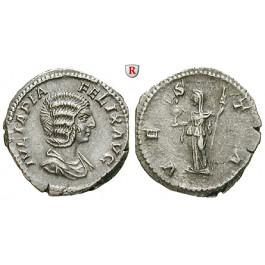 Römische Kaiserzeit, Julia Domna, Frau des Septimius Severus, Denar 211-217, ss-vz