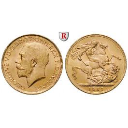 Südafrika, George V., Sovereign 1927, 7,32 g fein, vz-st
