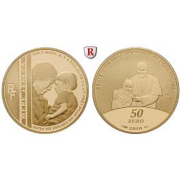 Frankreich, V. Republik, 50 Euro 2010, 7,78 g fein, PP
