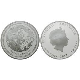 Australien, Elizabeth II., Dollar 2012, 31,08 g fein, PP