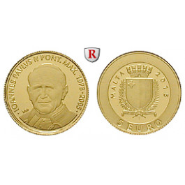 Malta, 5 Euro 2015, 0,5 g fein, PP