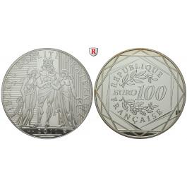 Frankreich, V. Republik, 100 Euro 2011, 45,0 g fein, PP