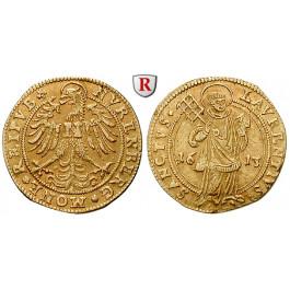 Nürnberg, Stadt, Goldgulden 1613, ss+