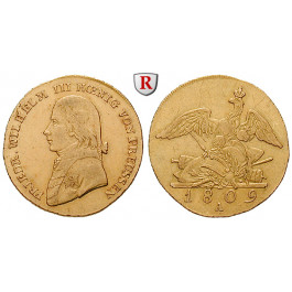 Brandenburg-Preussen, Königreich Preussen, Friedrich Wilhelm III., Friedrichs d`or 1809, ss+