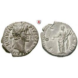 Römische Kaiserzeit, Antoninus Pius, Denar 152-153, ss-vz
