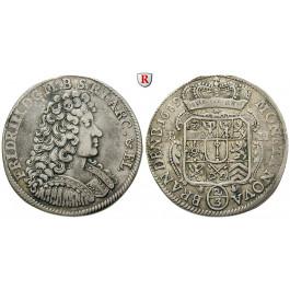 Brandenburg-Preussen, Kurfürstentum Brandenburg, Friedrich III., 2/3 Taler 1689, ss+