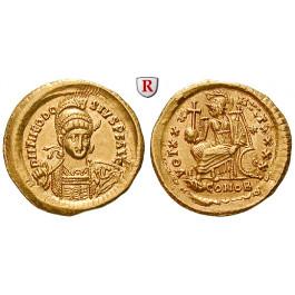 Römische Kaiserzeit, Theodosius II., Solidus 430-440, vz+