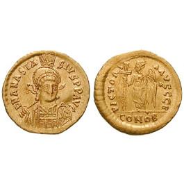 Byzanz, Anastasius I., Solidus 491-498, ss+
