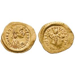 Byzanz, Justin I., Tremissis 518-527, vz