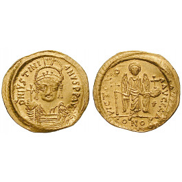 Byzanz, Justinian I., Solidus 527-565, vz-st
