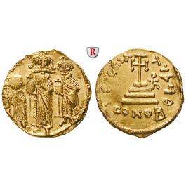 Byzanz, Heraclius, Heraclius Constantinus und Heraclonas, Solidus 638-641, vz
