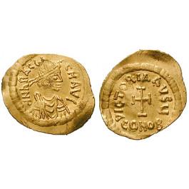Byzanz, Heraclius, Tremissis 610-613, ss+
