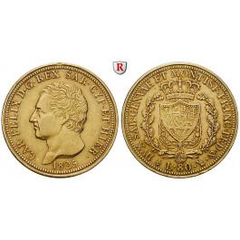 Italien, Königreich Sardinien, Carlo Felice, 80 Lire 1825, 23,23 g fein, ss+