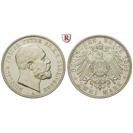 Deutsches Kaiserreich, Oldenburg, Nicolaus Friedrich Peter, 2 Mark 1891, A, vz/vz-st, J. 93