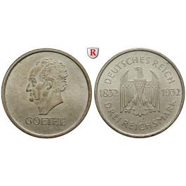 Weimarer Republik, 3 Reichsmark 1932, Goethe, A, vz+, J. 350