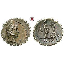 Römische Republik, L. Roscius Fabatus, Denar, serratus 64 v.Chr., f.vz