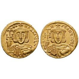 Byzanz, Constantinus V. Copronymus, Solidus 742-745, vz-st/vz