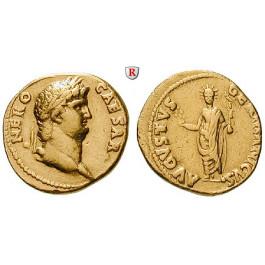 Römische Kaiserzeit, Nero, Aureus 64-68, ss-vz