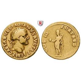 Römische Kaiserzeit, Vespasianus, Aureus 71, ss+/ss