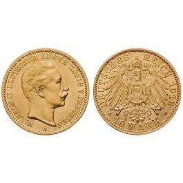 Deutsches Kaiserreich, Preussen, Wilhelm II., 10 Mark 1912, A, vz-st, J. 251