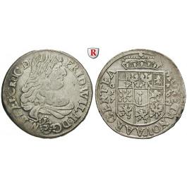 Brandenburg-Preussen, Kurfürstentum Brandenburg, Friedrich Wilhelm, 1/3 Taler 1672, ss